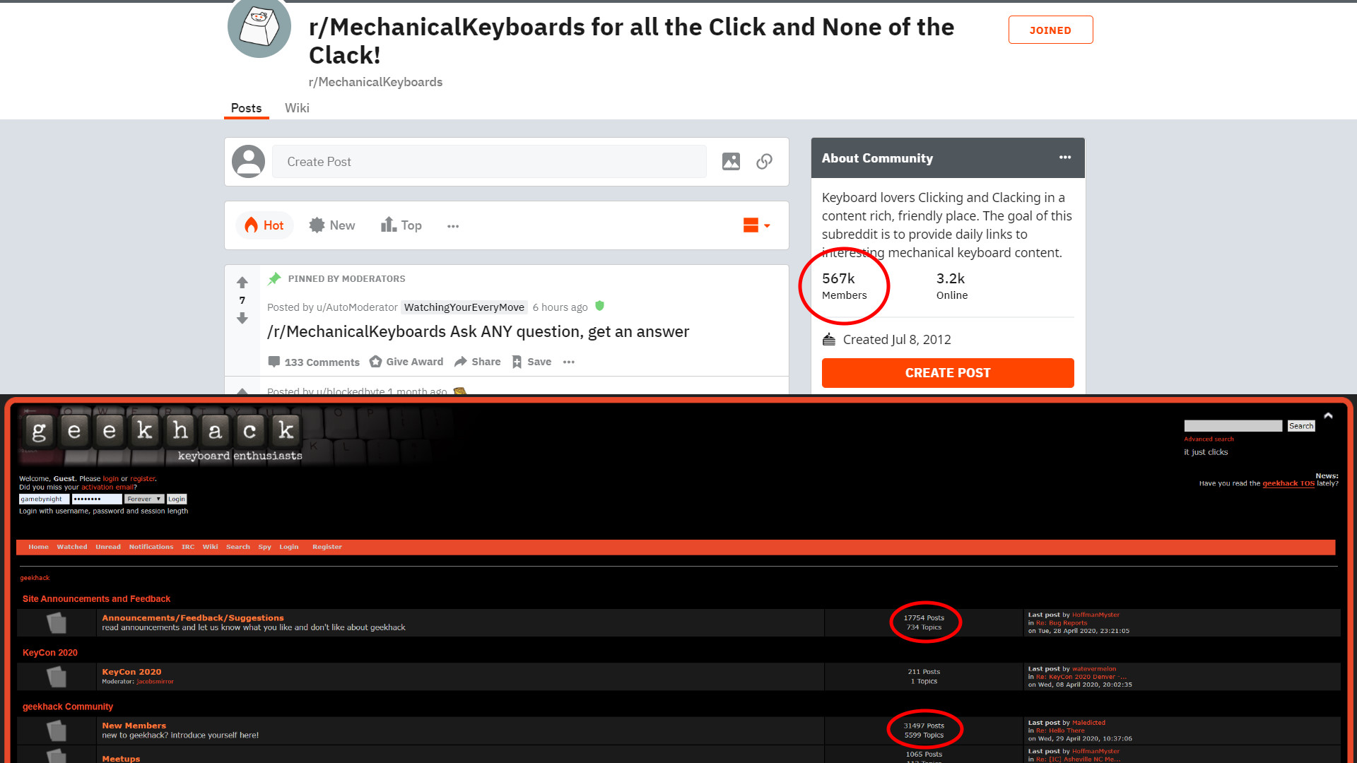 Major Keyboard Communities