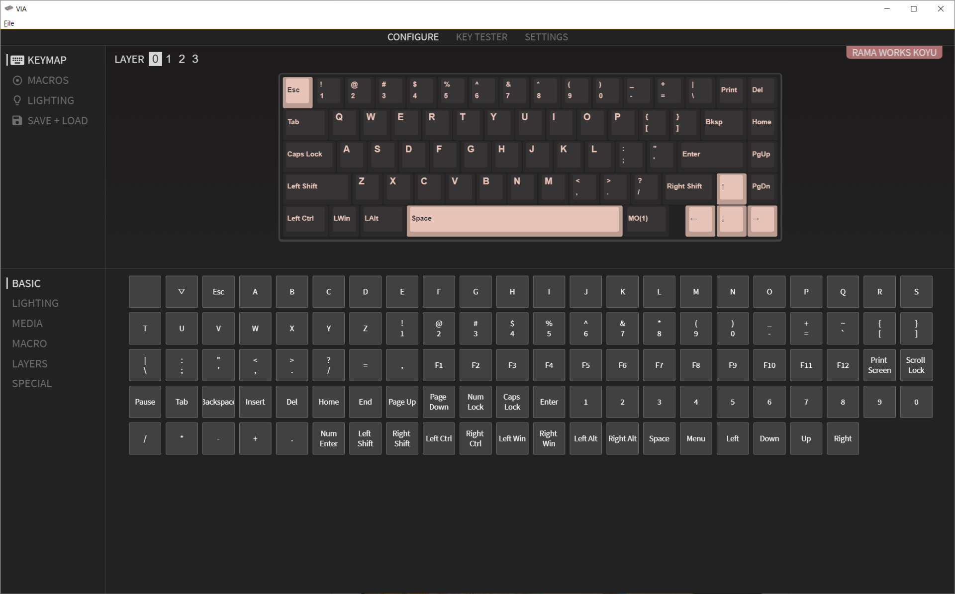 VIA Keyboard Configurator