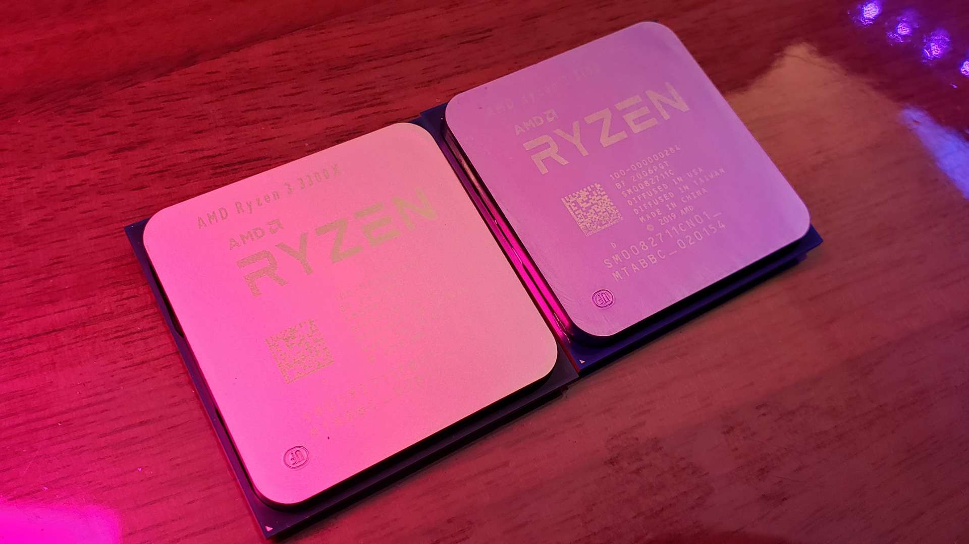Ryzen 3 3300X and 3100 Pictured