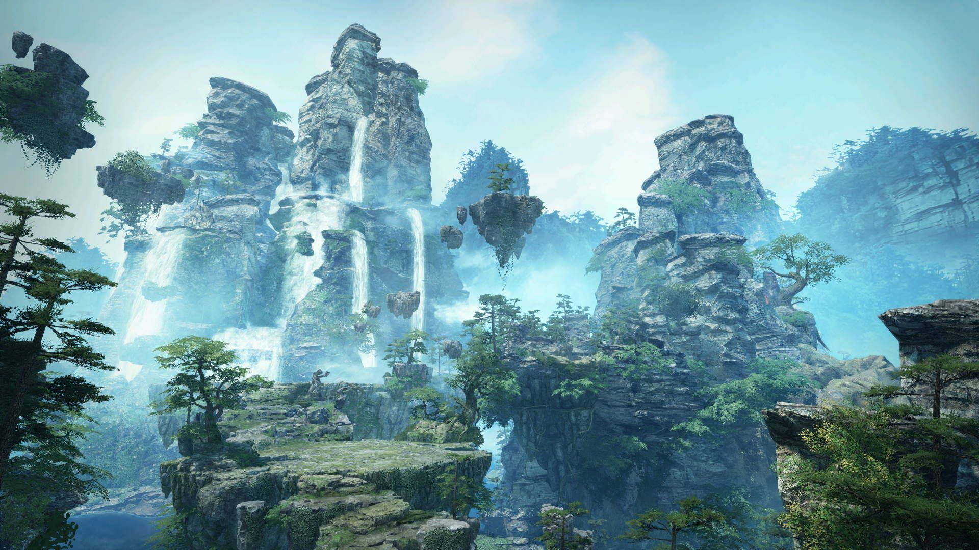Mountains around Cloudrise Swords of Legends Online