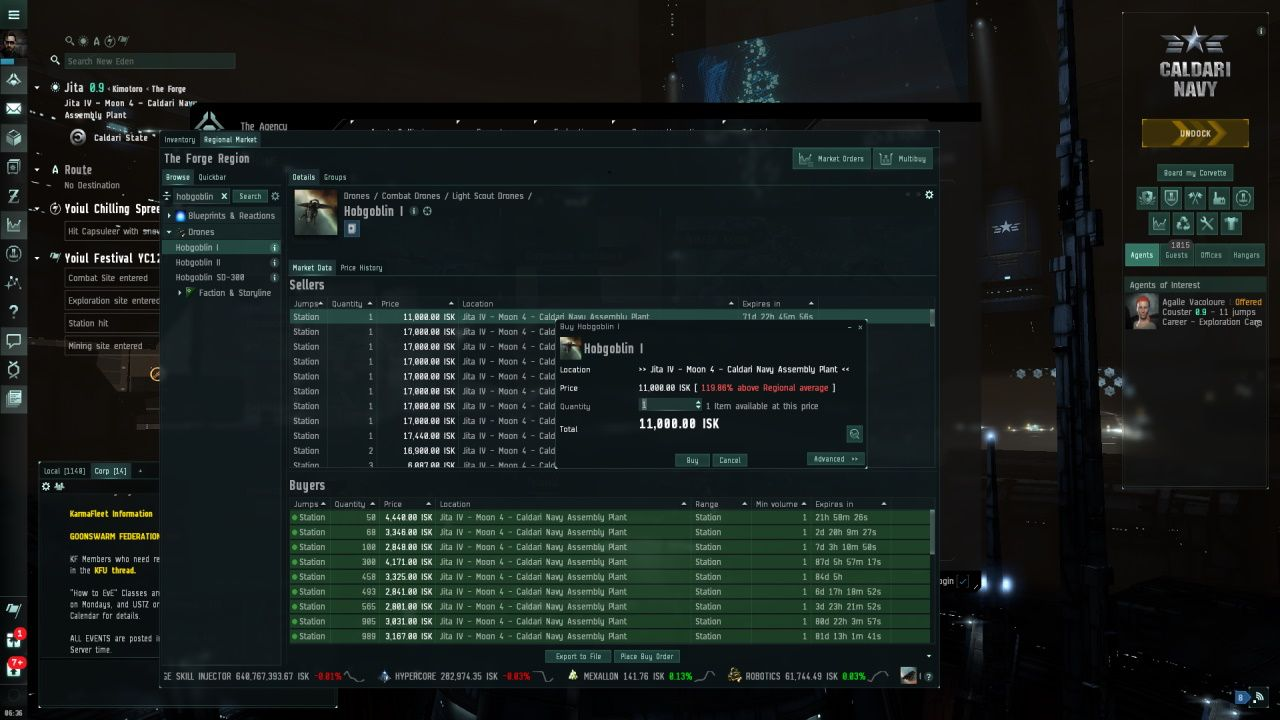 EVE Online marketplace