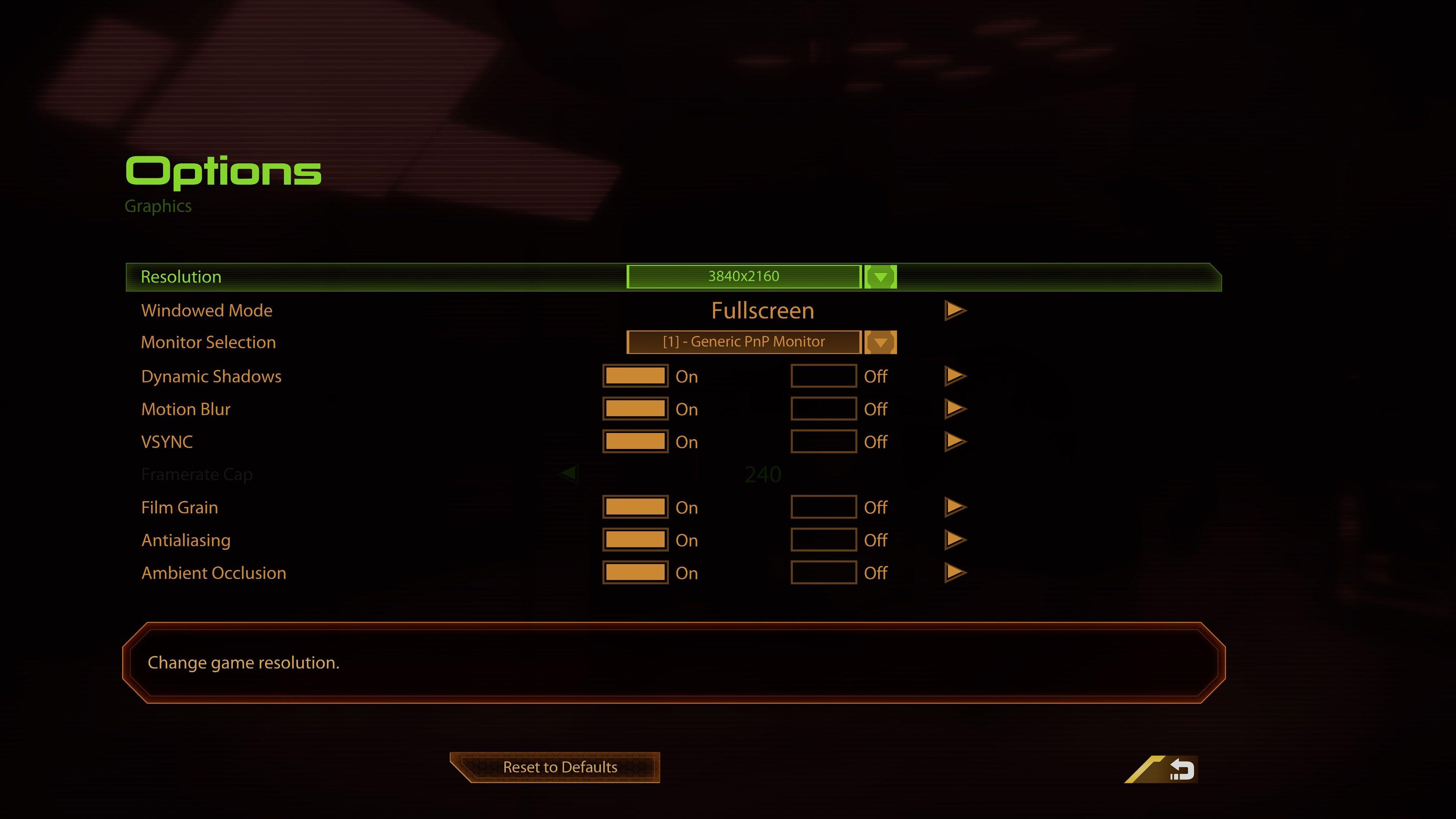 mass effect legendary edition graphics menu