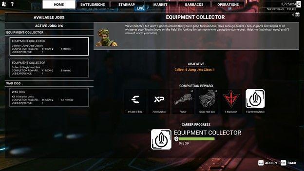 mech warrior 5 equipment