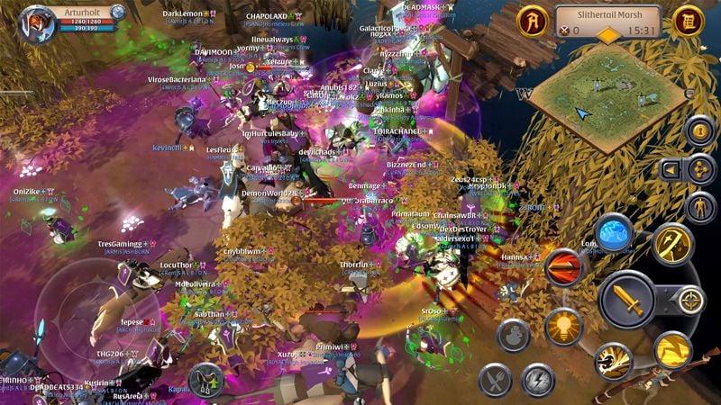 Albion Online Mobile Group Battle