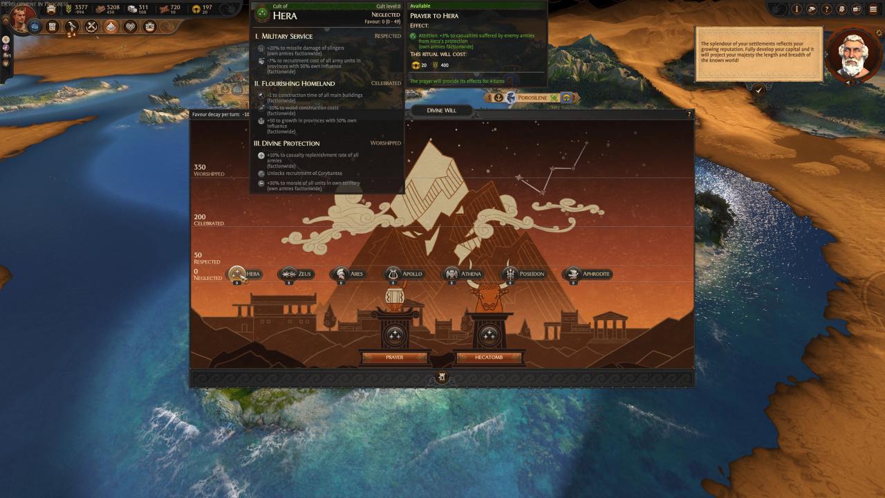 total war saga troy pantheon screen