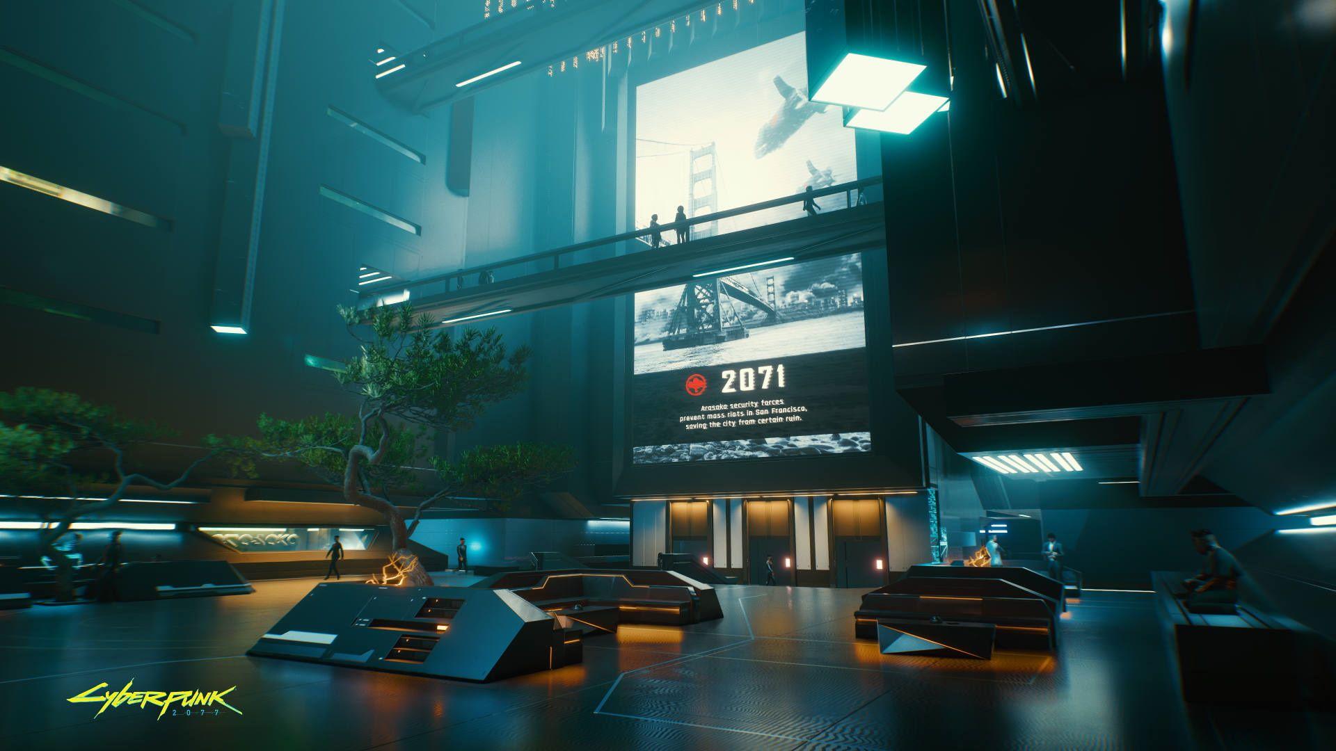 Cyberpunk 2077 Hall