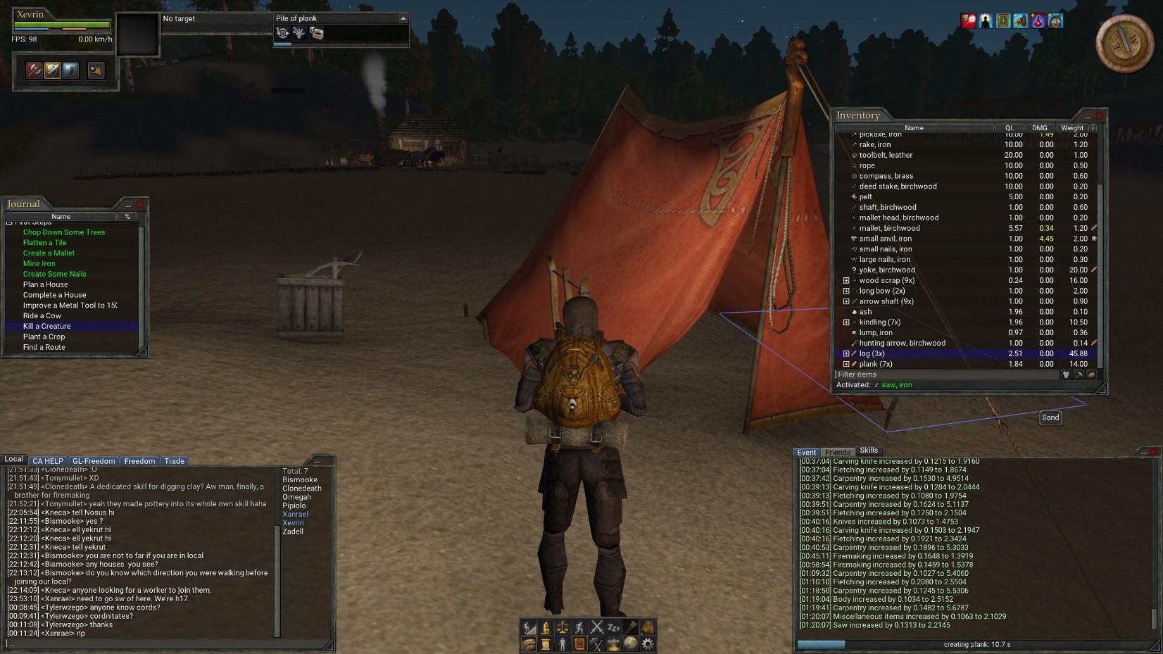 wurm online night camp