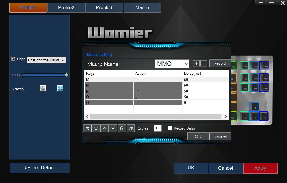 Womier K87 Software