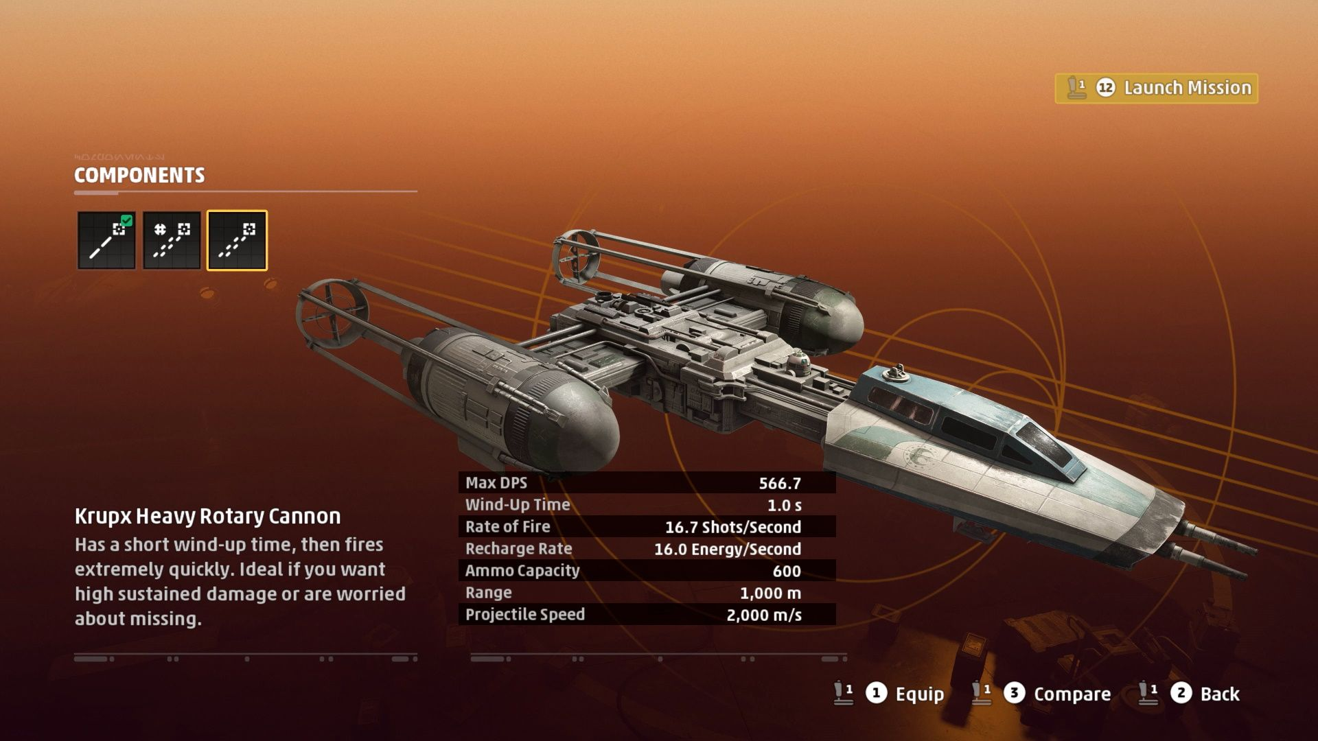 Star Wars Squadrons Y-Wing