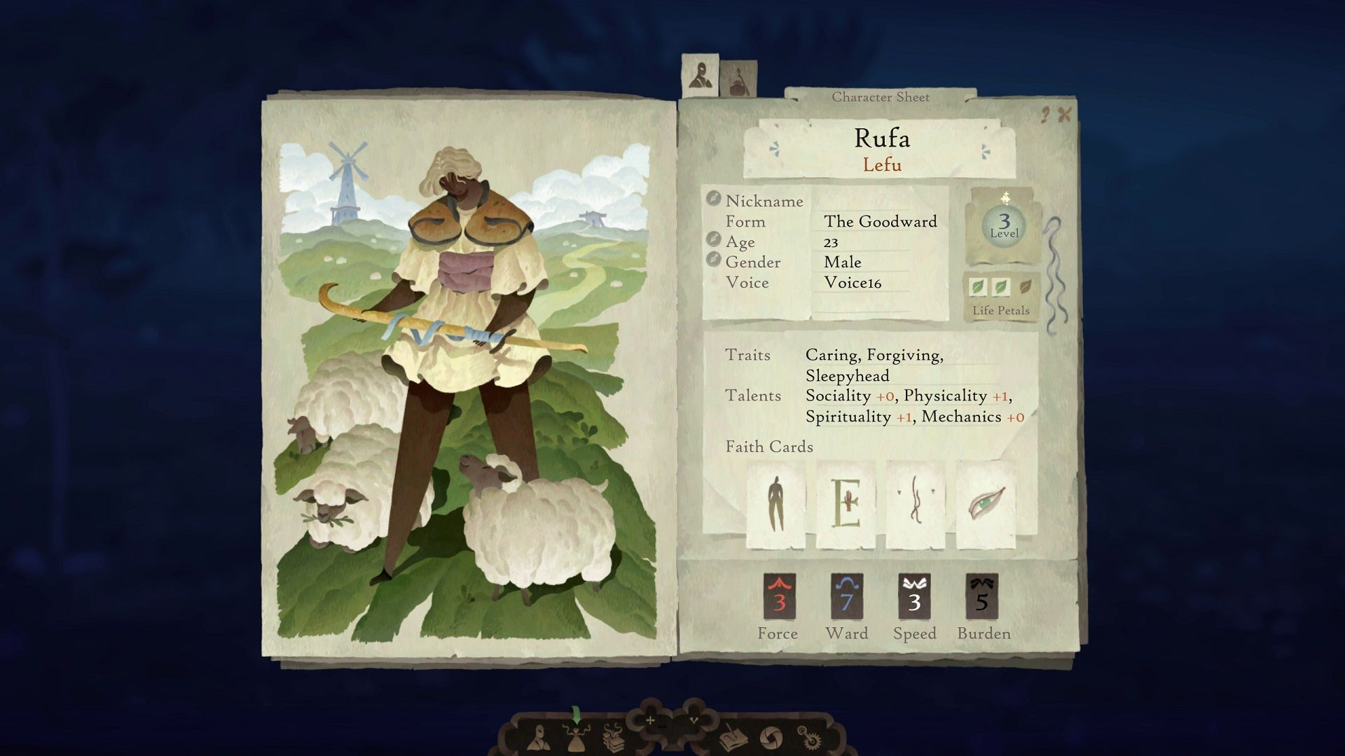 Book of Travels Character Creation