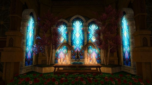 FFXIV Haunted Asylum Stained Glass