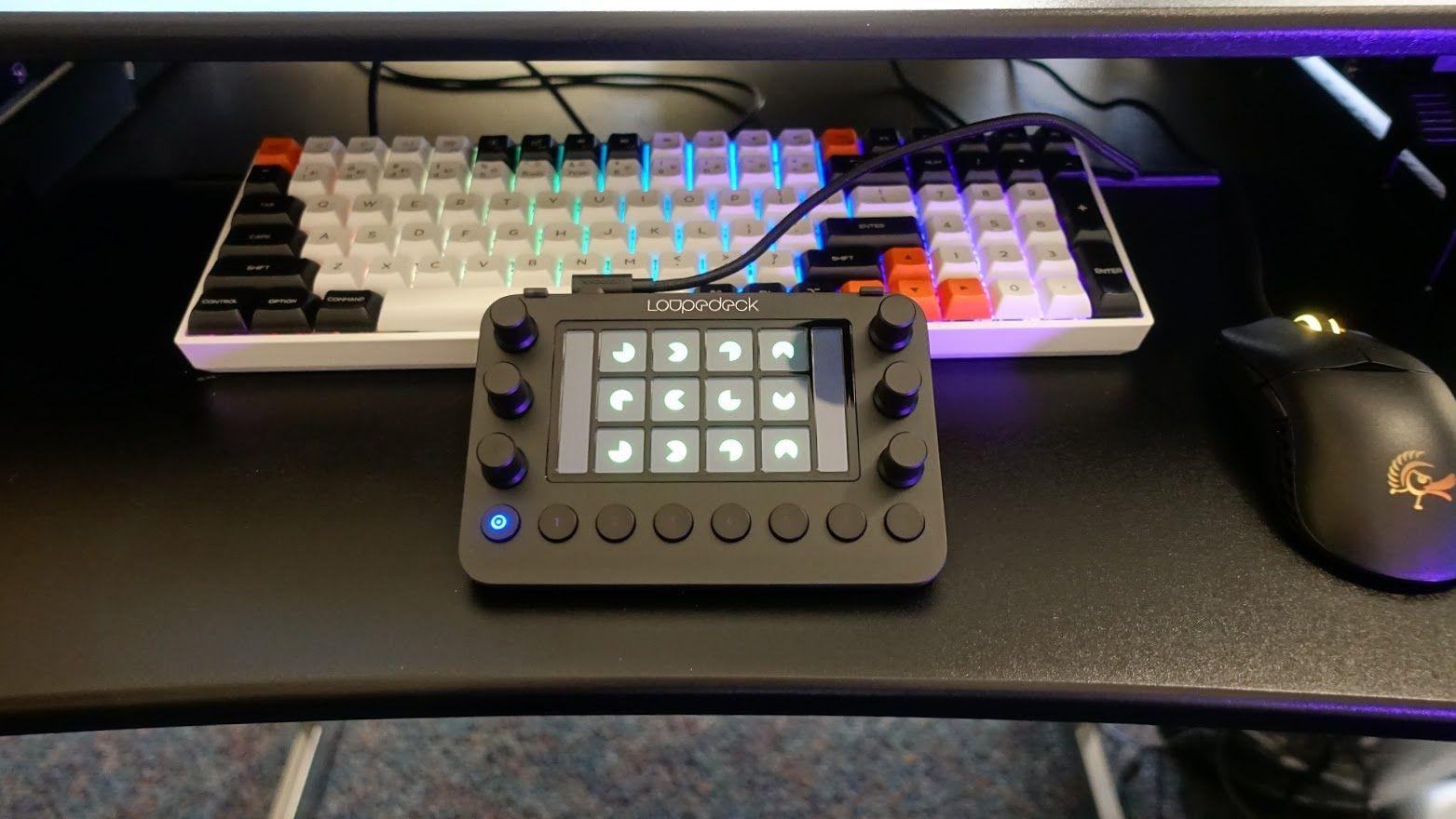Loupedeck Live Setup on Desk