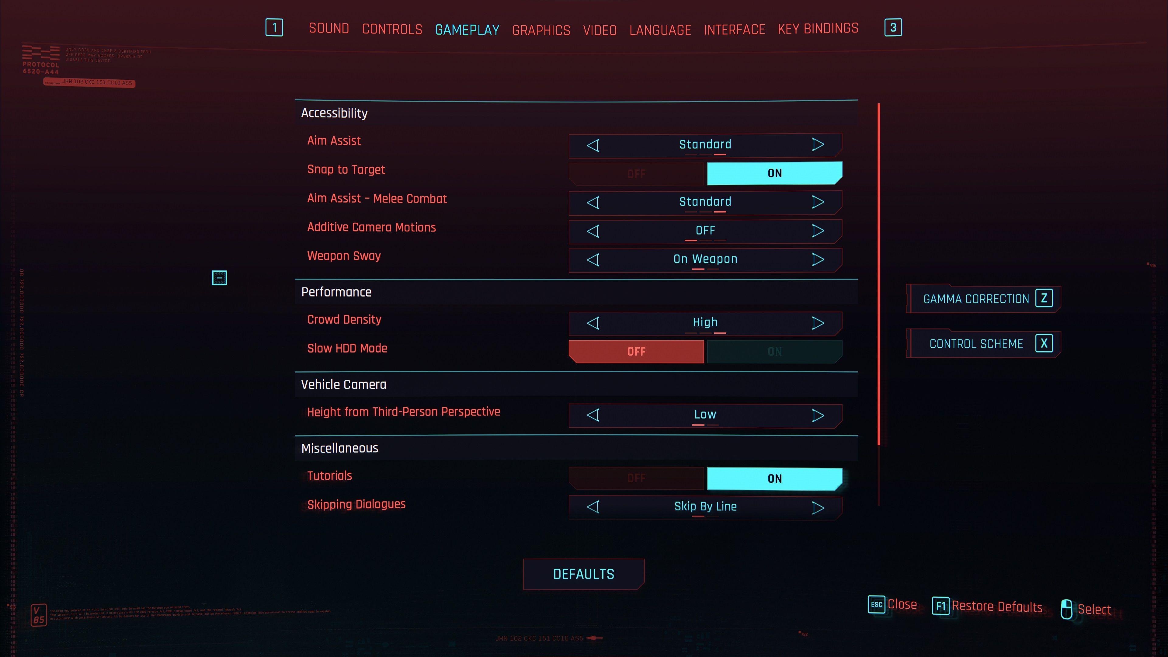 cyberpunk 2077 accessibility