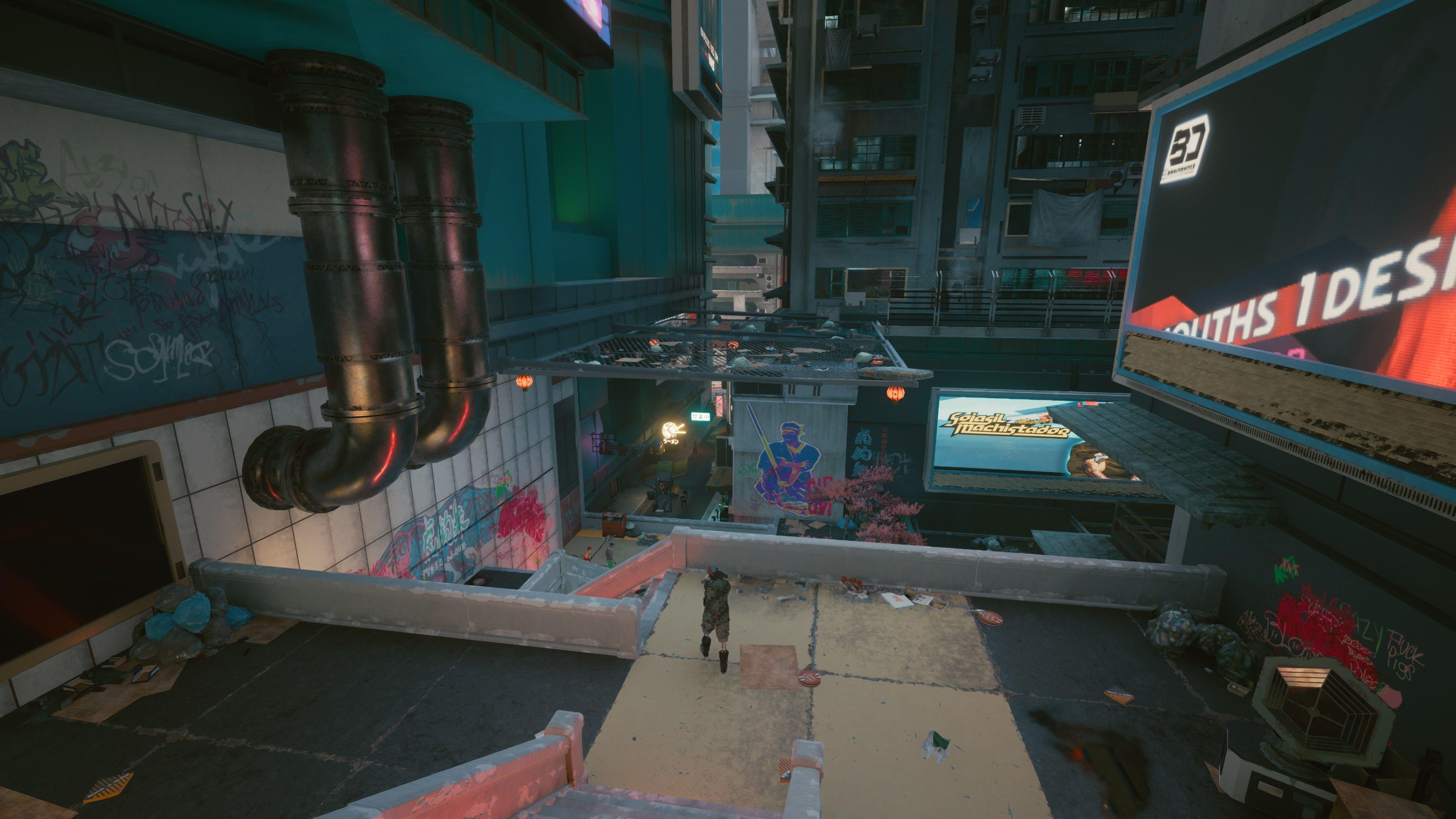 cyberpunk 2077 alley