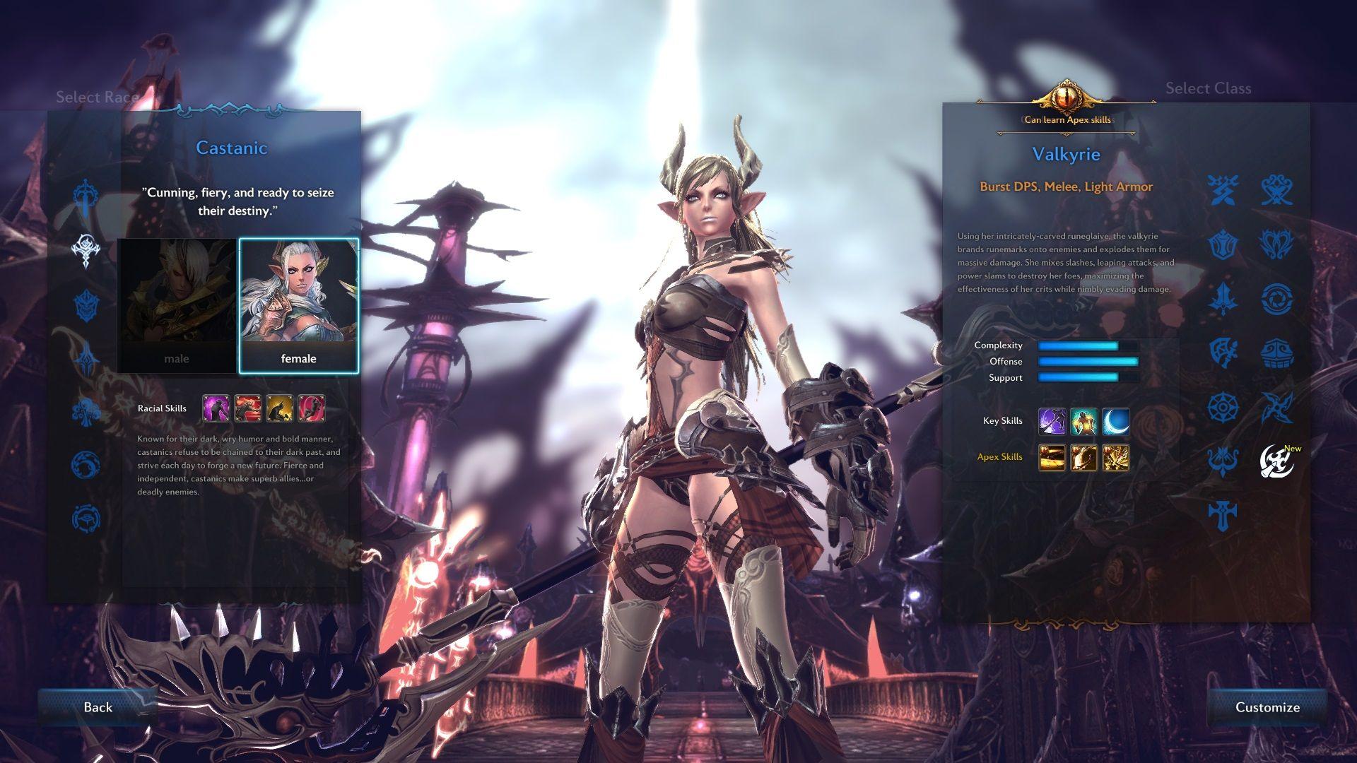 tera character creation