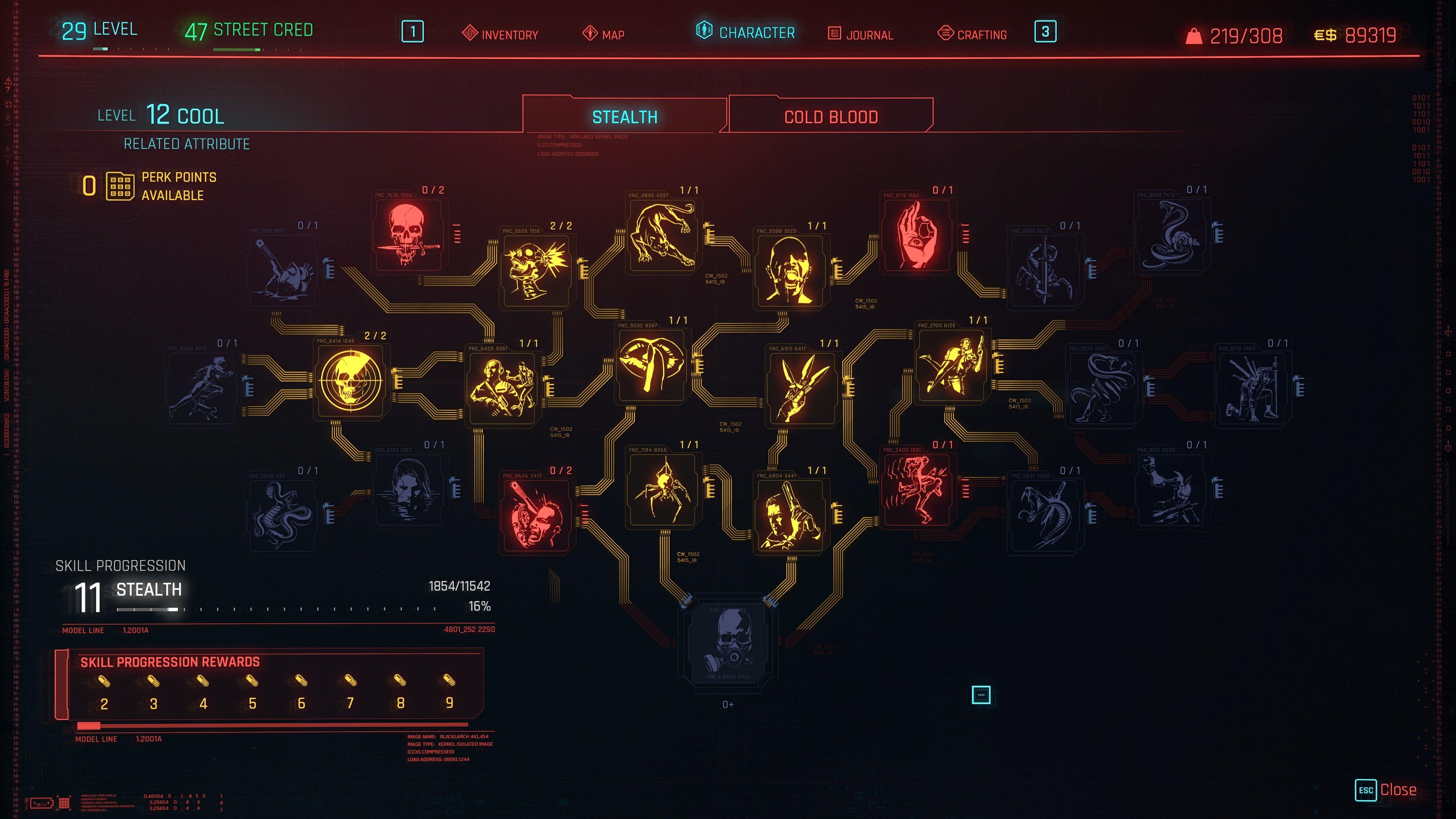 cyberpunk 2077 stealth skill line