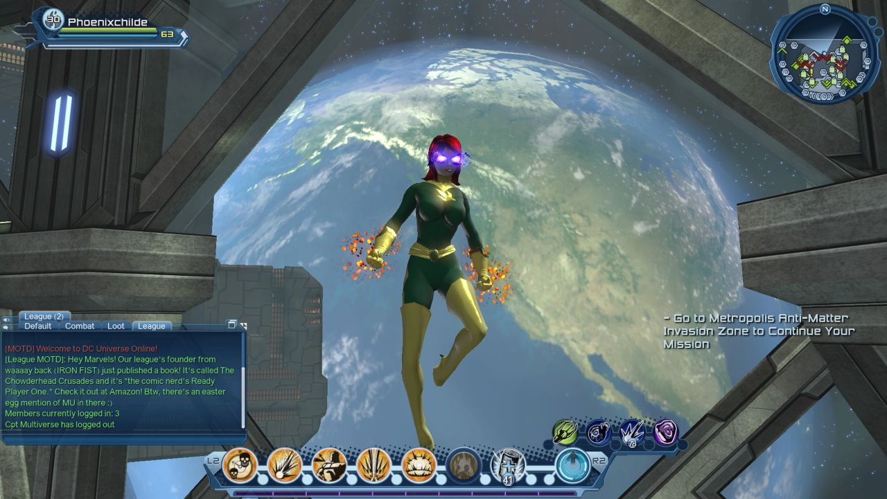 DCUO Character Creation Jean Grey Phoenix