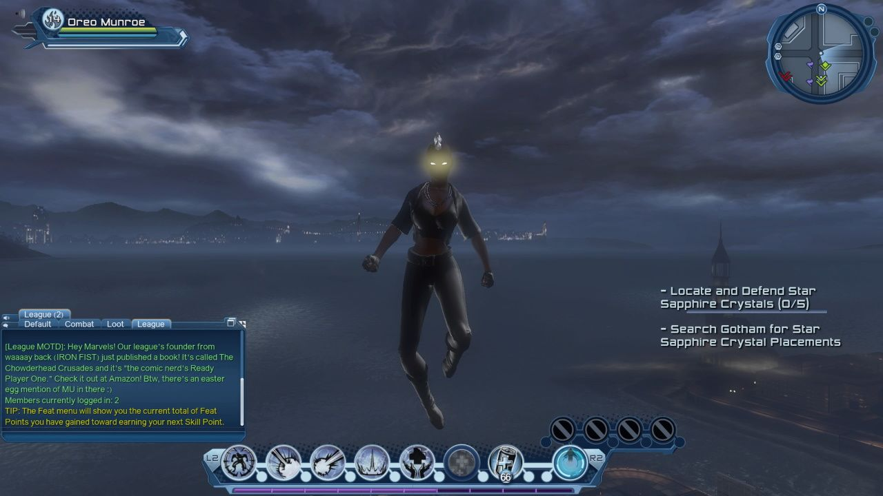 DCUO X-Men's Storm Flying