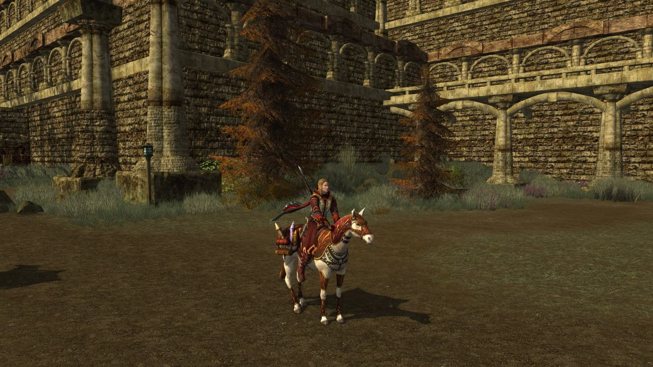 Lord of the Rings Online Costumed Elf on Horse