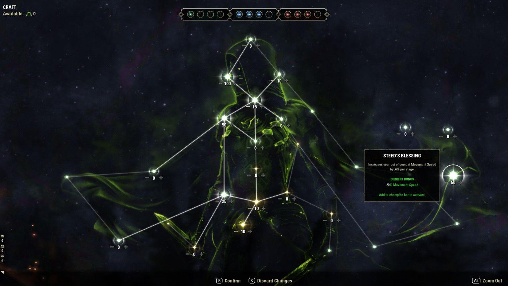 ESO Champion Point 2.0 Green Constellation