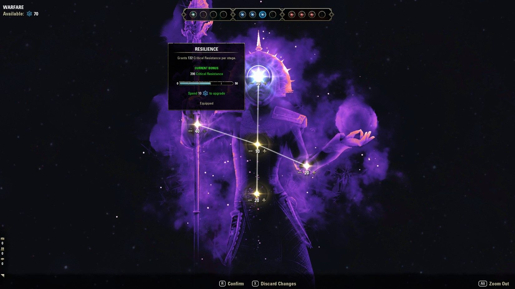 ESO Champion Point 2.0 Maxed Out Constellation