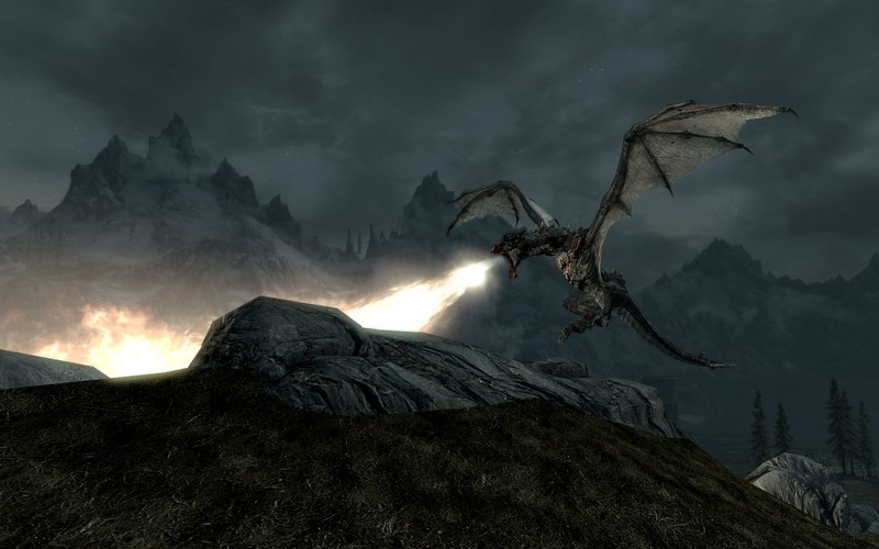 Skyrim - dragon fire! - MMORPG.com Galleries
