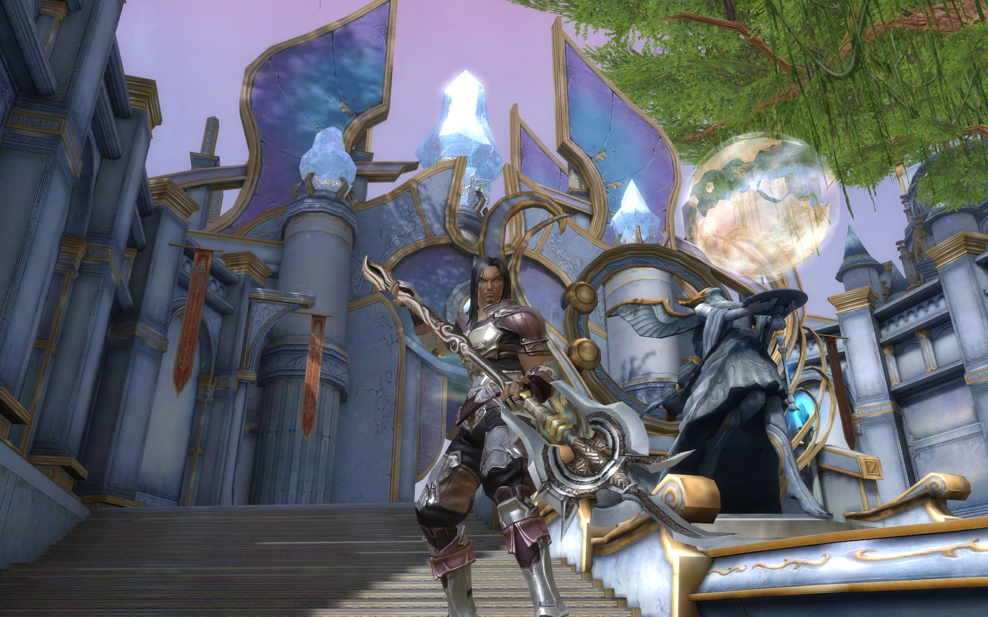My Gladiator using a Polearm - MMORPG com Aion Galleries