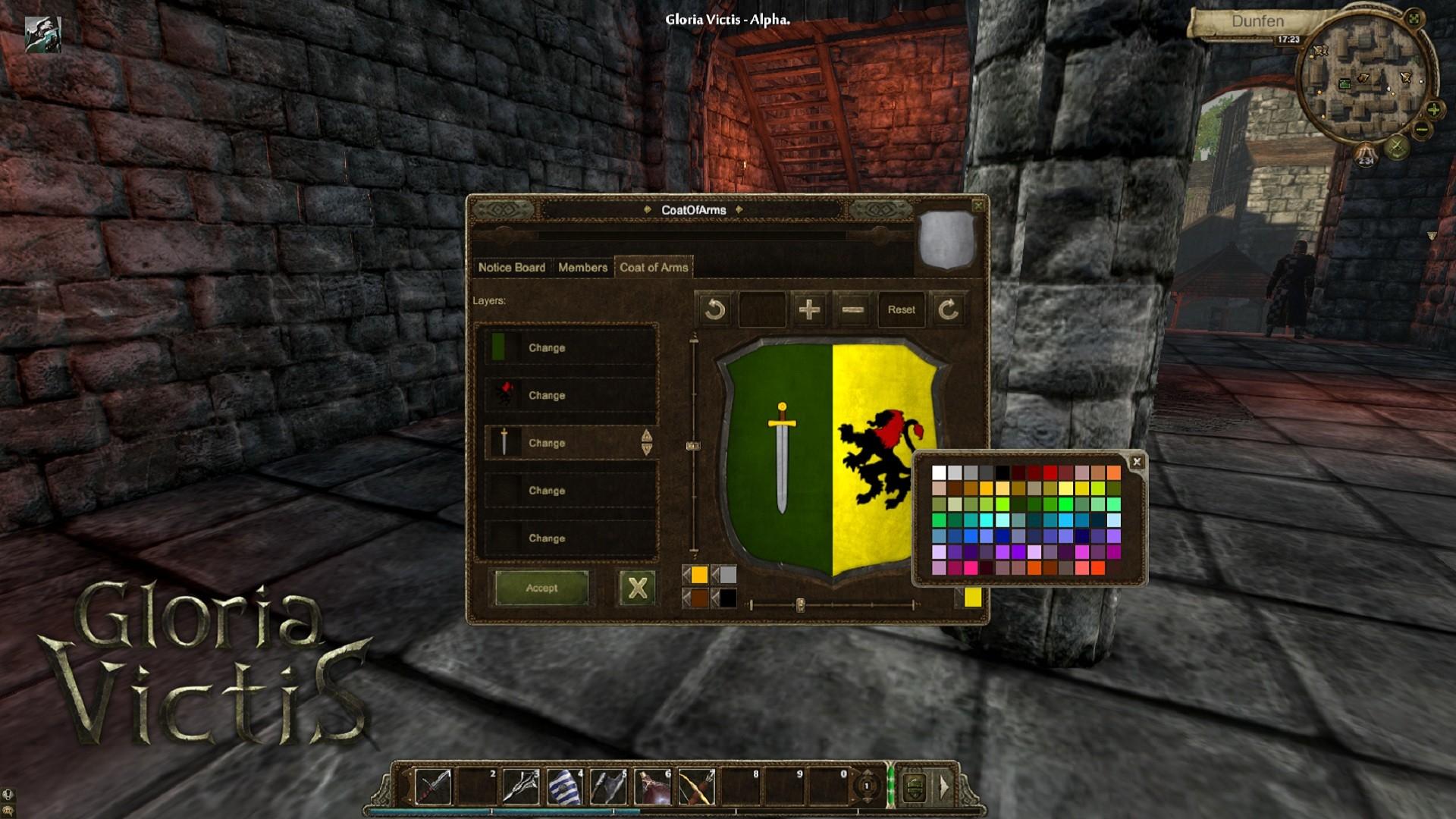 Gloria Victis - Coat of Arms editor - MMORPG com Gloria