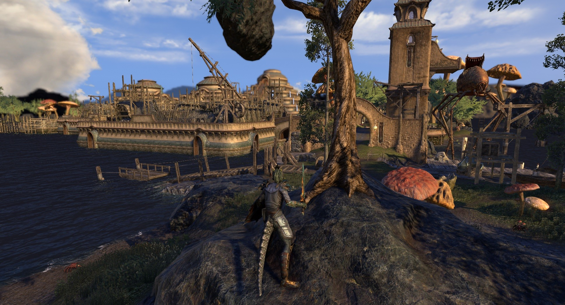 Elder Scrolls Online - Testing out Hook for ESO which removes fog and the game looks kind of cool :)