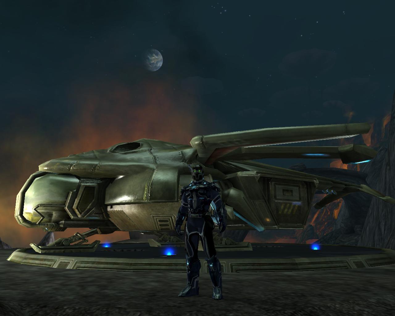 Spy with dropship  - MMORPG com Tabula Rasa Galleries