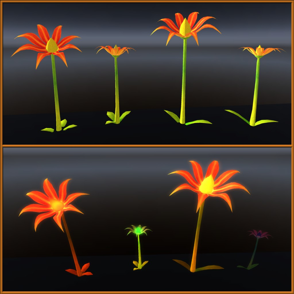 Second Life - Some more fantasy flowers I made from when I used to sell on second life.