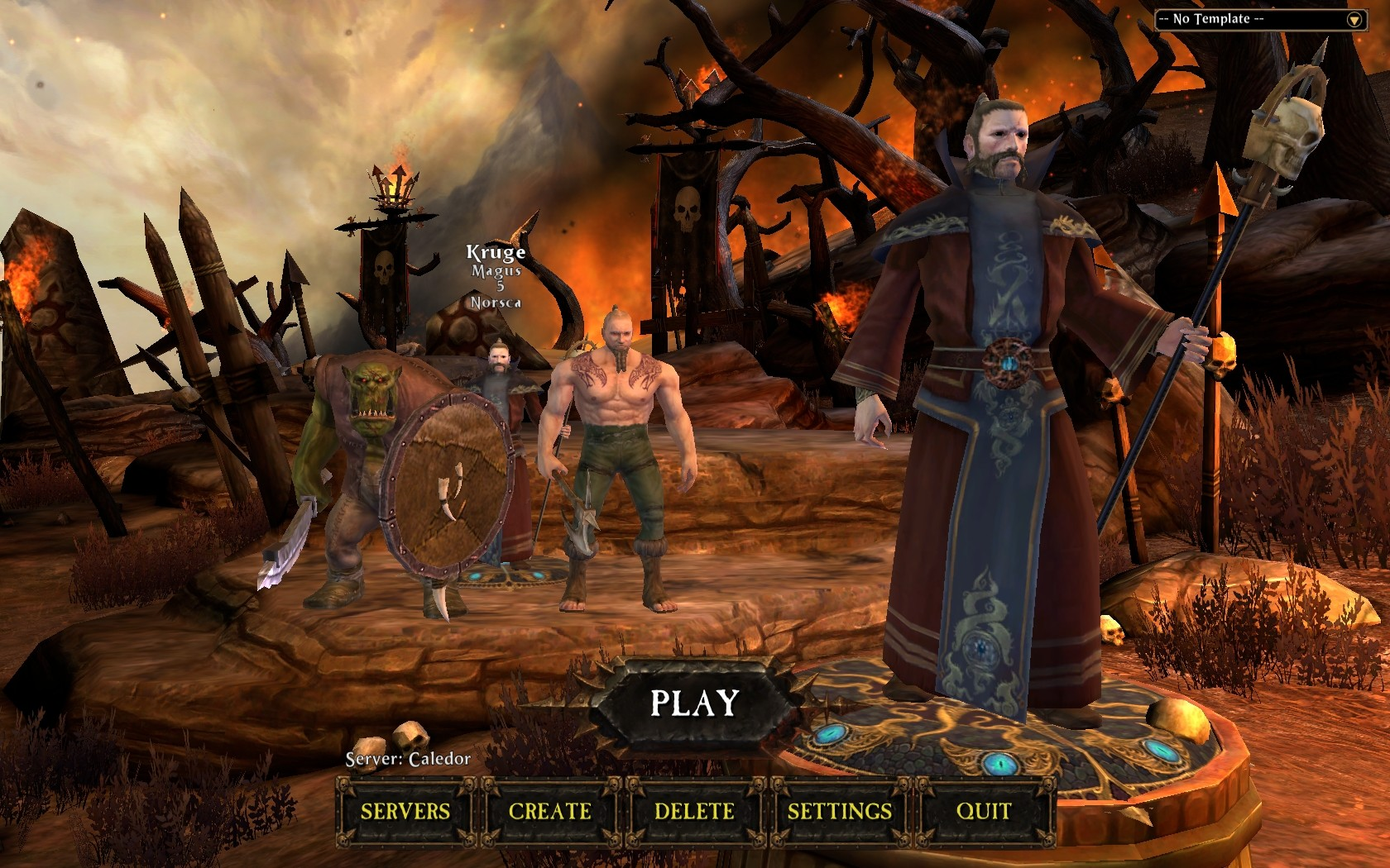 Character Select Screen Mmorpgcom Warhammer Online Age Of