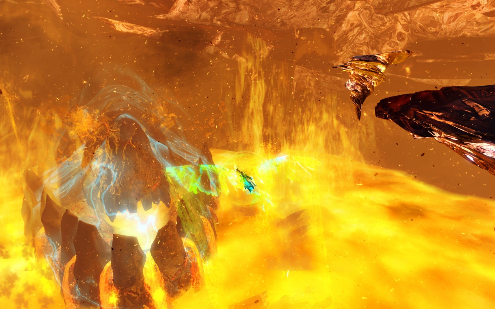 Guild Wars 2 - Heart of the volcano.