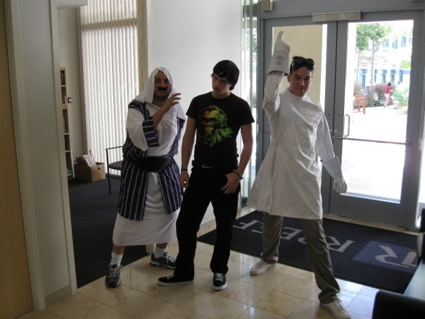 3D Artist Mark Khalil as Moses, Associate Texture Artist Stephan Williams as Emo Kid and Associate 3D Artist Justin Wong as Dr. Horrible.