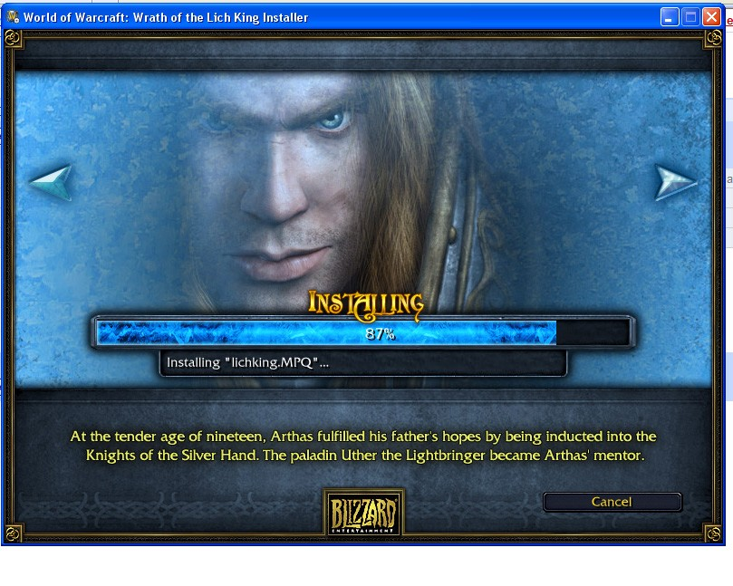 World of Warcraft - Installer for Lich King