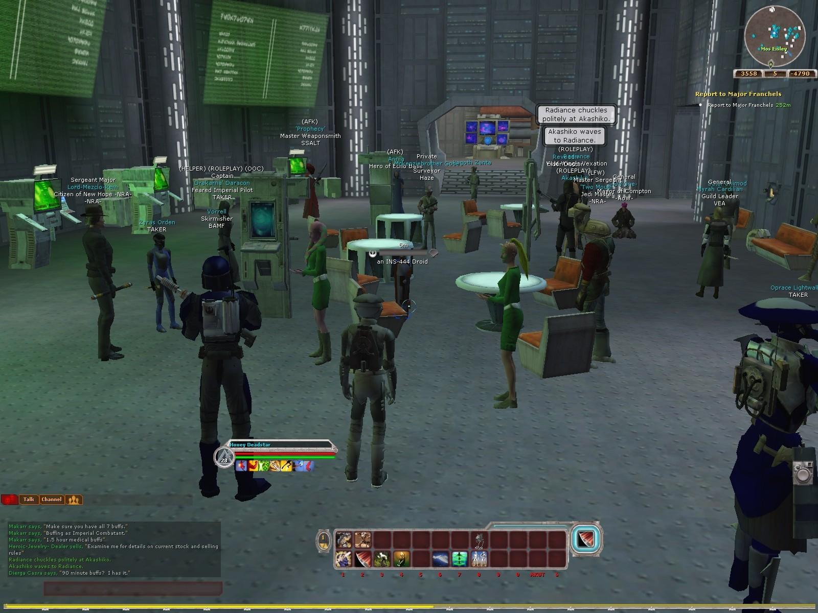 Relaxing - MMORPG com Star Wars Galaxies Galleries