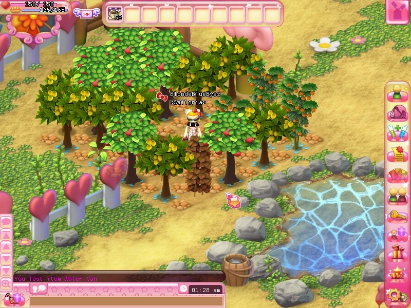 Hello Kitty Online - Farming trees and fruits in HKO