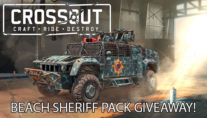 Crossout Beach Sheriff Pack Sweepstakes!