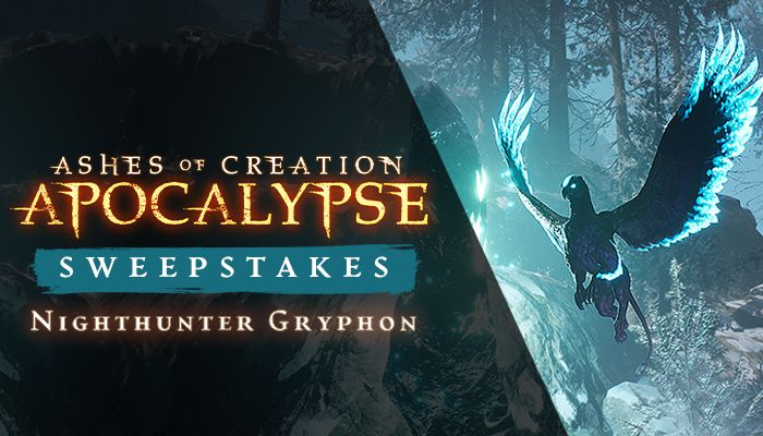 Ashes of Creation Apocalypse Nighthunter Gryphon Sweepstakes!