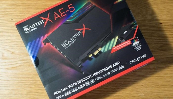 Sound BlasterX AE-5 PCIe Gaming Sound Card and DAC: Rock On