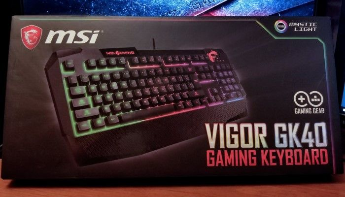 MSI Vigor GK40 Gaming Keyboard: Mechanical-like and Shining Bright
