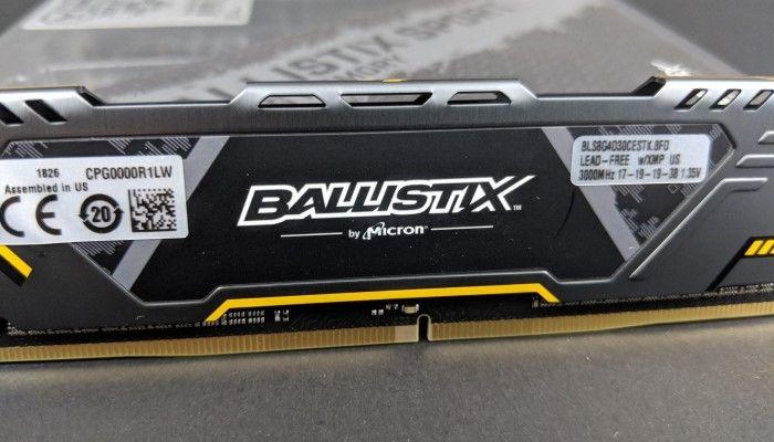- Ballistix Sport DDR4 3000MT/s AT Gaming Memory (32GB): ASUS TUF