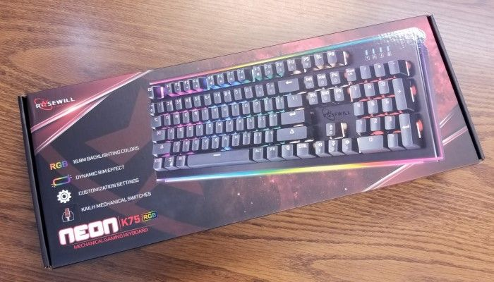 Rosewill NEON K75 Mechanical Gaming Keyboard Review