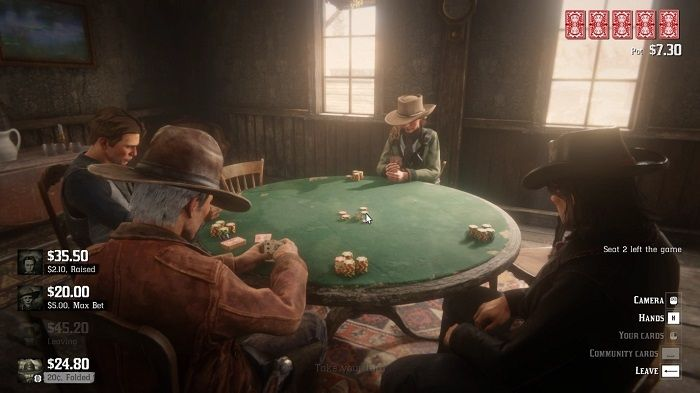 A Gamblin' Man in Red Dead Redemption 2