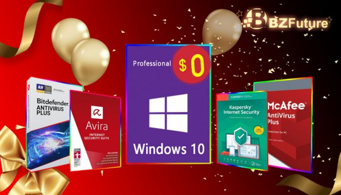 Authorized Antivirus Software At Half Price And Win 10 Pro As A Gift (SPONSORED)