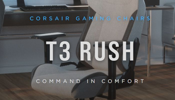 Corsair T3 Rush Fabric Gaming Chair Review