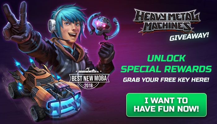 Heavy Metal Machines Gift Key Giveaway!