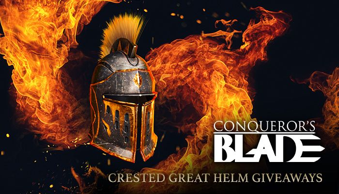Conqueror's Blade Crested Great Helm Giveaway!