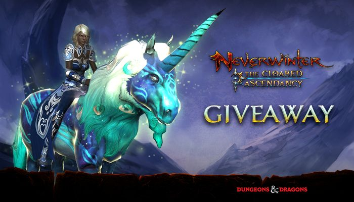 Cerulean Unicorn Giveaway! (PS4) - Neverwinter - MMORPG.com