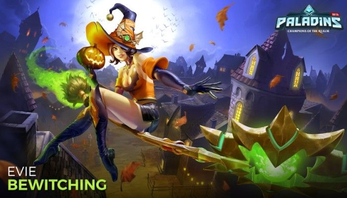 All Hallows Evie Update Brings New Spooky Skins - Paladins: Champions of the Realm - MMORPG.com
